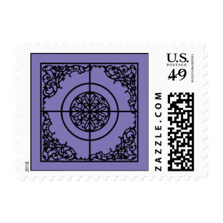 Wrought Iron Gate element Postage Stamp