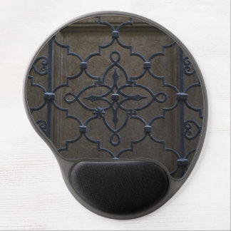 wrought iron grid vintage architectural metal deta gel mouse pad