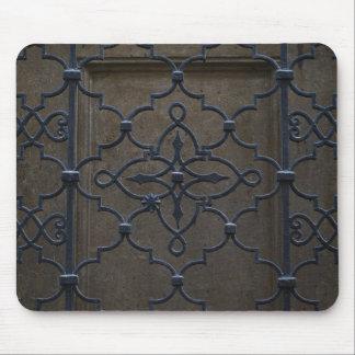 wrought iron grid vintage architectural metal deta mouse pad