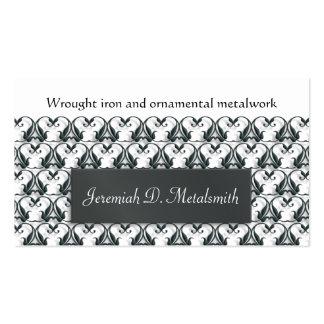 Wrought iron metalwork business card