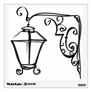 Wrought Iron Street Lantern Wall Sticker