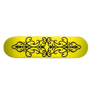 Wrought Iron Yellow Skateboard Decks