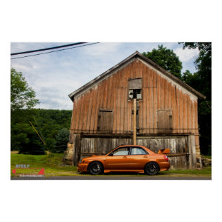 WRX out for a spin in the country Poster