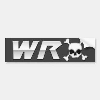 WRX with Scull Car Bumper Sticker