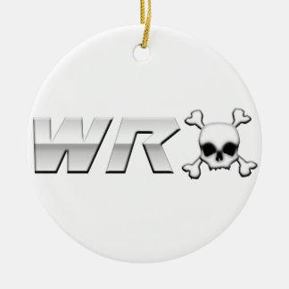 WRX with Scull Ceramic Ornament