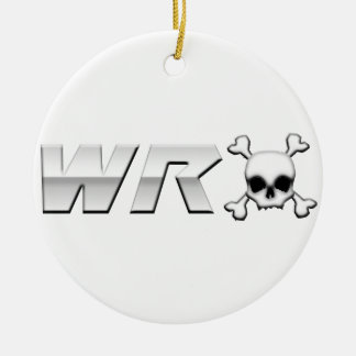 WRX with Scull Double-Sided Ceramic Round Christmas Ornament