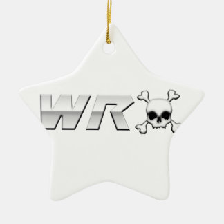 WRX with Scull Double-Sided Star Ceramic Christmas Ornament