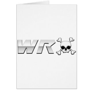 WRX with Scull Greeting Card