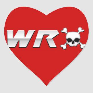 WRX with Scull Heart Sticker
