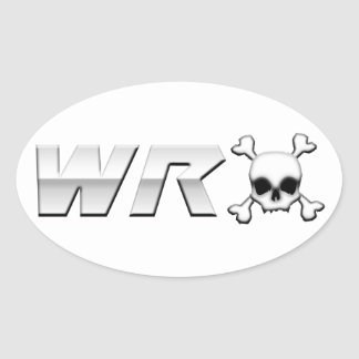 WRX with Scull Oval Sticker