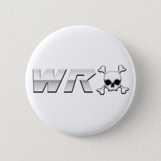 WRX with Scull Pinback Button