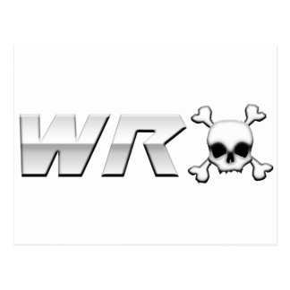 WRX with Scull Postcard