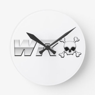 WRX with Scull Round Clock
