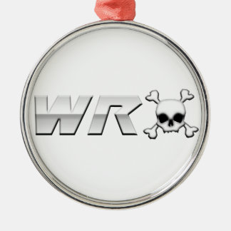 WRX with Scull Round Metal Christmas Ornament