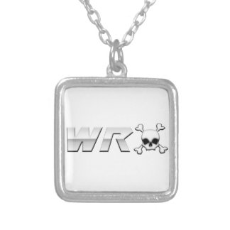 WRX with Scull Square Pendant Necklace