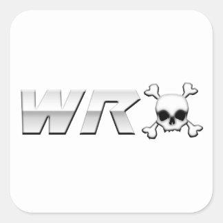 WRX with Scull Square Sticker