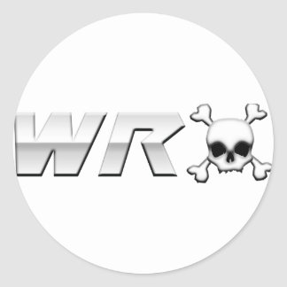 WRX with Scull Round Stickers
