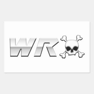 WRX with Scull Rectangular Sticker