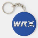 WRX with Skull Basic Round Button Keychain
