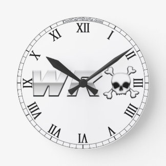 WRX with Skull Round Clock