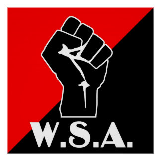 wsa fist logo poster