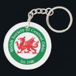 """WSCO Logo Keychain<br><div class=""""desc"""">Welsh Society of Central Ohio (WSCO) Logo on both sides of this keychain is the perfect accessory to remind you to celebrate your Welsh heritage every day!</div>"""
