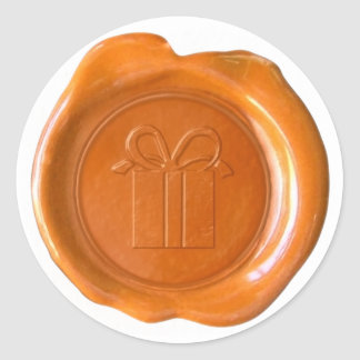 WSM Custom - Courtney - GiftBox - Orange Classic Round Sticker