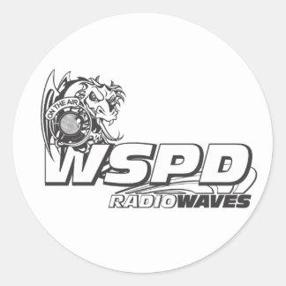 WSPD RADIO WAVES ROUND STICKER