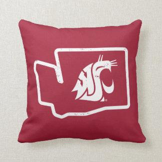 WSU Cougars | Vintage Washington State Throw Pillow