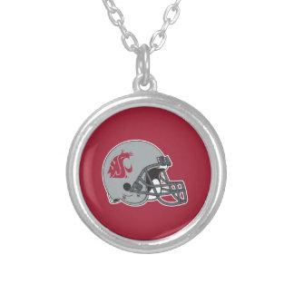 WSU Helmet Silver Plated Necklace