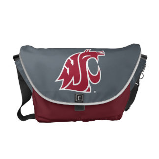 WSU Primary Mark - Red Messenger Bags