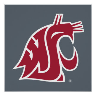 WSU Primary Mark - Red Poster