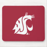 WSU Primary Mark - White Mouse Pad