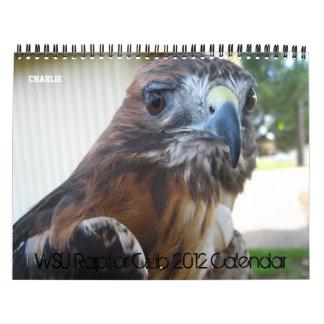 WSU Raptor Club 2012 Calendar
