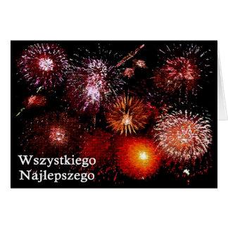 Wszystkiego najlepszego / Happy Birthday Greeting Card