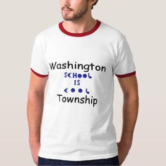 WT 8 Gray shirt, red ringer, SIC, name T-Shirt