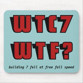 ¿WTC 7 WTF? en azul Alfombrillas De Raton