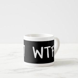 ¿WTC 7 WTF? Letras blancas en negro Tazitas Espresso