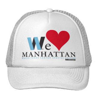 WTC PAYS WE LOVE MANHATTAN TRUCKER HATS
