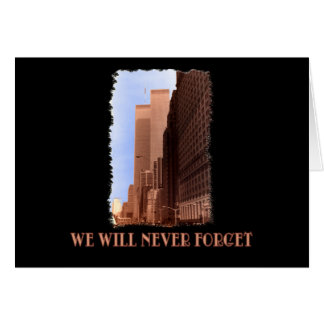 WTC Street View Never Forget 9/11 Tshirts Card