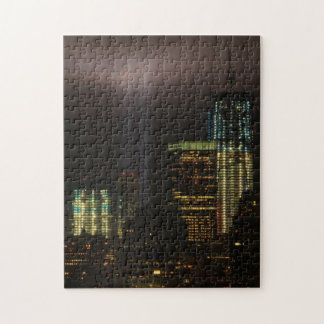 WTC Tribute in Light 2011: Ghostly Beams in Clouds Jigsaw Puzzles