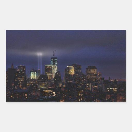 WTC Tribute in Light - 9/11/2011 at twiight Sticker