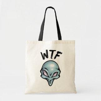 WTF Alien Canvas Bags