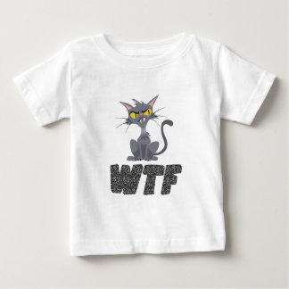 WTF CAT BLACK BABY T-Shirt
