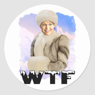 wtf classic round sticker