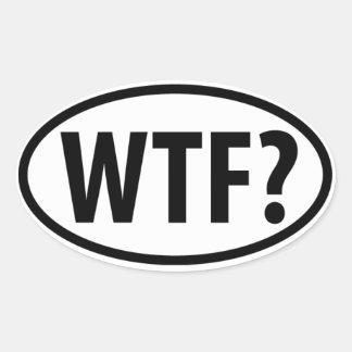 ¿WTF? Emblema euro del coche del estilo Calcomanías De Ovales