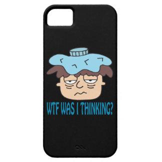 WTF era pensamiento de I iPhone 5 Case-Mate Cobertura