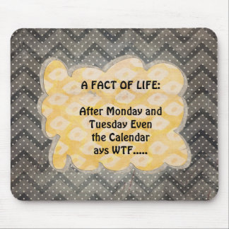 WTF Fun Facts Mouse Pad