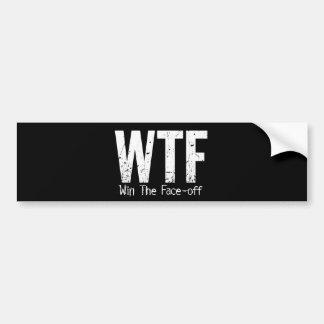 WTF: Gane la Cara-apagado (el hockey) Pegatina Para Auto
