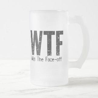 WTF: Gane la Cara-apagado (el hockey) Taza De Cristal
